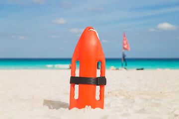 Lifeguards on the beach. Sea, Ocean