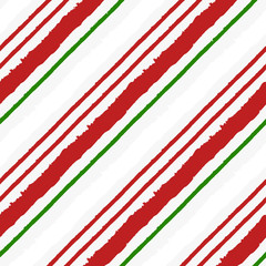 Candy Cane Grunge Stripes Seamless Pattern