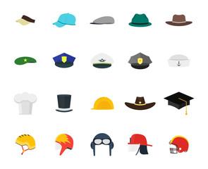 Hats Set Fashion for Men. Vector