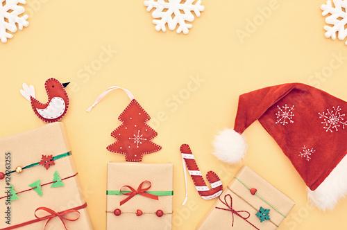 Christmas Background Decoration Gift Boxes Handmade Christmas