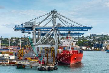 Cargo ship docking - sea freight