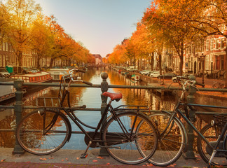 Evening over Amsterdam canals