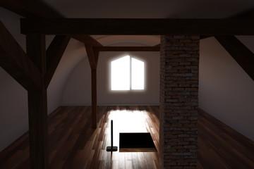 leerer Raum Dachboden