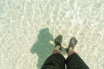 Crystal clear sea of Koh Rok island, Krabi, Thailand.