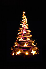 color christmas tree