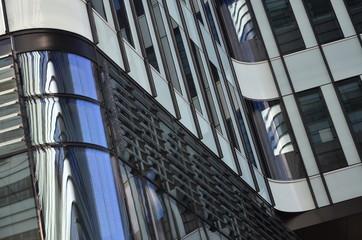 abstrakcyjne kształty nowoczesnych budynków