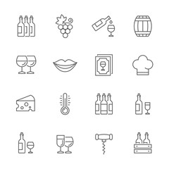 Wine icons.