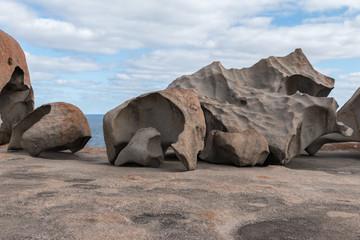 Colored rock formation at Kangaroo island south Australia