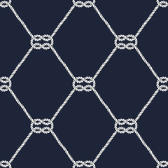 Seamless nautical rope pattern - Square knots