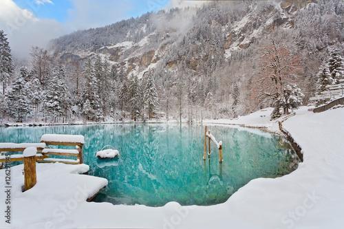 blausee schweiz schwimmen