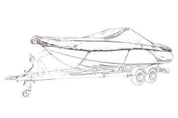 Outlines of the motor boat