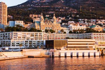 Panorama of Monaco at sunrise