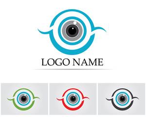 Eyes care logo healthy