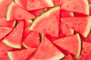 Watermelon slices texture background, high detailed