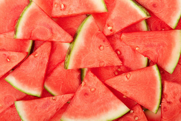 Watermelon fresh slices texture background