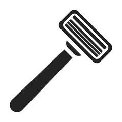 Safety razor icon in black style isolated on white background. Hairdressery symbol stock vector illustration.
