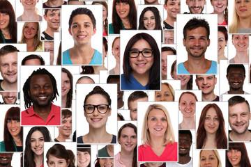Hintergrund Collage multikulturell junge Leute People Menschen G