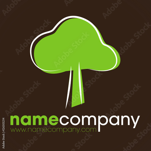 Logo jardinier paysagiste arbre stock image and royalty for Paysagiste logo