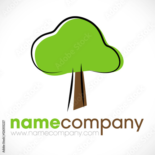 logo paysagiste jardinier arbre stock image and royalty