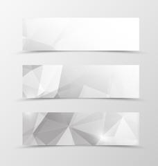 Set of header banner geometric design