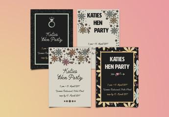 Hen/Bachelorette Party Invitation Layout 1