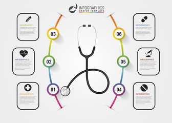 Medical And Health infographics. Modern design template. Vector
