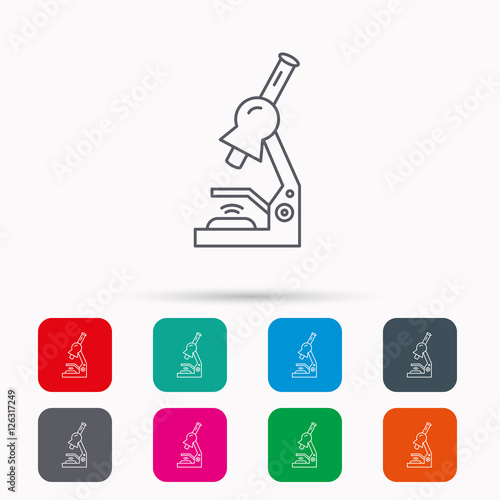 Microscope Icon Medical Laboratory Equipment Sign Pathology Or