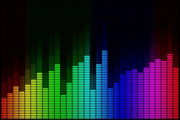 audio spectrum design background, sound wave background