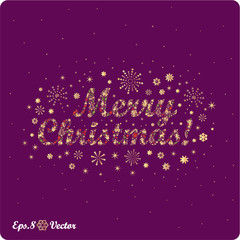 Merry Christmas! Composed of Christmas icons. eps8