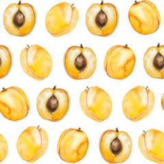 seamless pattern of watercolor apricot