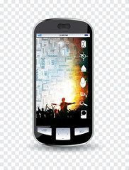 Smartphone with application