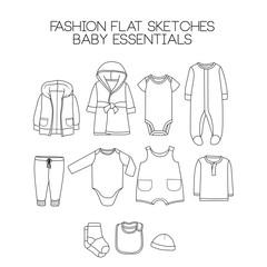 Fashion flat sketches baby essential