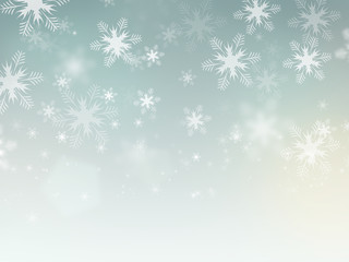 Beautiful abstract snowflake Christmas background.