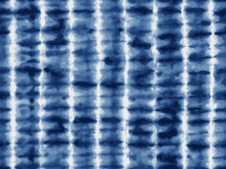 Tie-dye textile pattern in indigo blue.