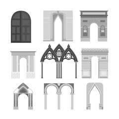 Arch vector construction illustration
