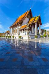 Wat Suthat Thep Wararam is a buddhist temple and landmark in Bangkok, Thailand