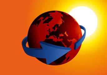 Terre - Flèche - environnement