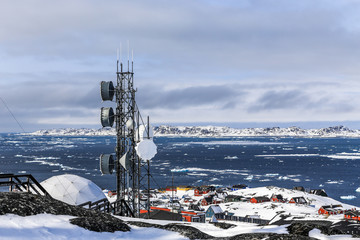 Arctic station and Nuuk fjord view