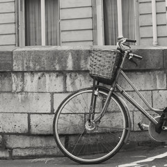 Vintage bicycle in Paris