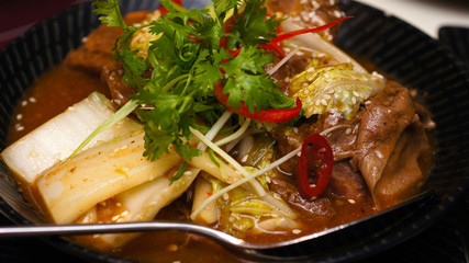 Braised beef, asian style