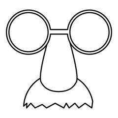 Clown face icon. Outline illustration of clown face vector icon for web design