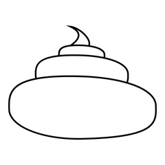 Turd icon. Outline illustration of turd vector icon for web design