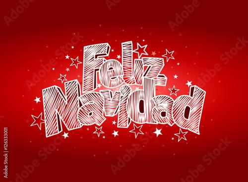 Feliz navidad merry christmas in spanish language red cover of feliz navidad merry christmas in spanish language red cover of greeting card layout m4hsunfo