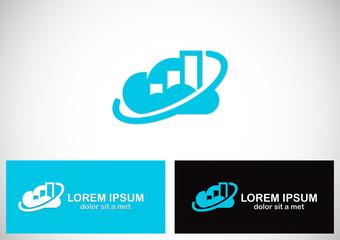 cloud business finance logo