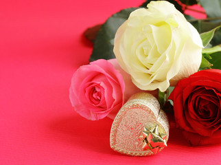 Flowers and gifts for Valentine's Day.  Roses, chocolates and jewelry