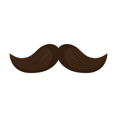 mexican mustache isolated icon vector illustration design