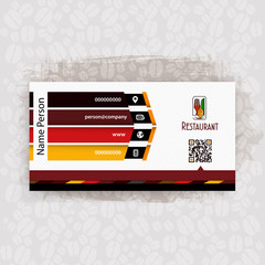 Card, Corporate identity for Restaurant