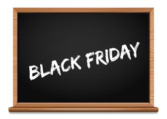 Black Friday design. Caption chalk on a blackboard - Black Friday. Black Friday banner. Vector illustration