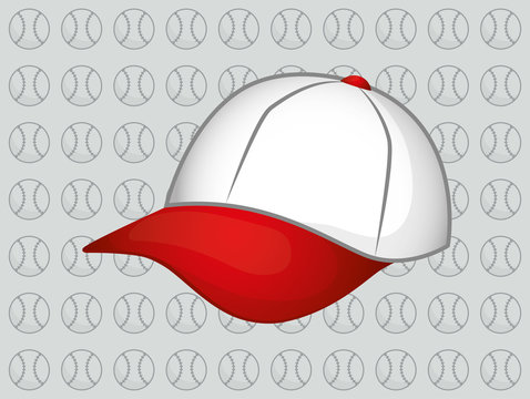 baseball hat cap icon vector illustration graphic design
