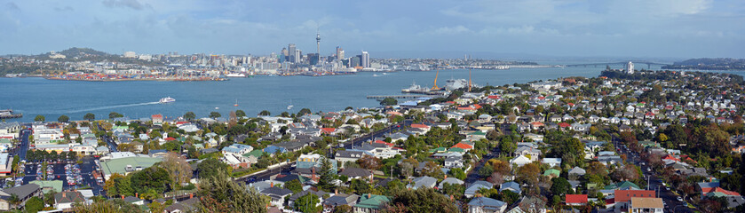 Auckland Panorama from Mount Victoria, Devonport towards City &